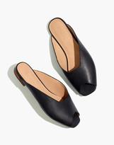 Madewell The Erica Peep-Toe Mule in Leather