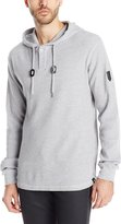Southpole Men's Thermal Basic with Hooded Henley Neck and Zipper Details, Heather Grey