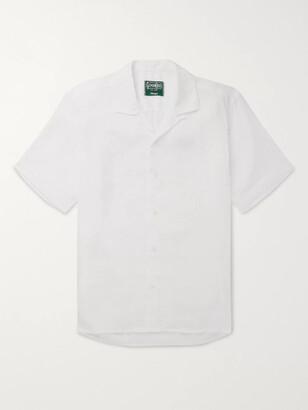 Gitman Brothers Camp-Collar Linen Shirt