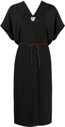 Alysi tie-waist midi dress