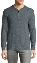 Faherty Heather Solid Henley