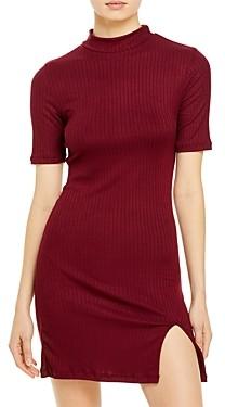 Aqua Ribbed Bodycon Mini Dress - 100% Exclusive