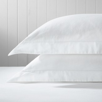 The White Company Velvet-Touch Brushed Cotton Oxford Pillowcases, White, Large Square