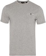 Oxford Leo Geo Print T Shirt Grn/Nvy X