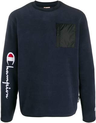 Champion zipped patch pocket jumper