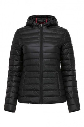 JOTT Cloe Hooded Padded Down Jacket In Black - Medium