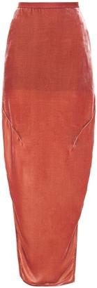 Rick Owens Split-side Velvet Maxi Skirt
