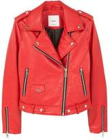 MANGO Appliqu?? biker jacket