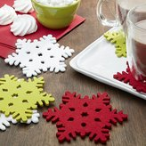 Crate & Barrel Snowflake Assorted Fabric Coasters Set of 6