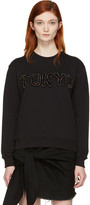 MSGM Black Embroidered 'Tokyo' Pullover