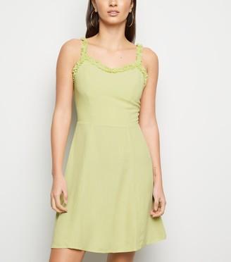 New Look Light Frill Trim Mini Dress