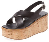 Prada Leather Platform Sandal