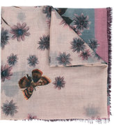 Valentino floral and moth print scarf