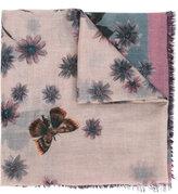 Valentino Garavani Valentino floral and moth print scarf - women - Silk/Cashmere - One Size