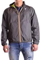 K-Way Men's Grey Polyamide Outerwear Jacket.