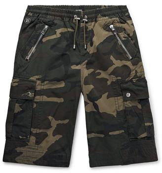 Balmain Camouflage-Print Cotton-Canvas Cargo Shorts