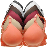 Angelina Coral & Red Wireless Padded Full-Coverage Bra Set
