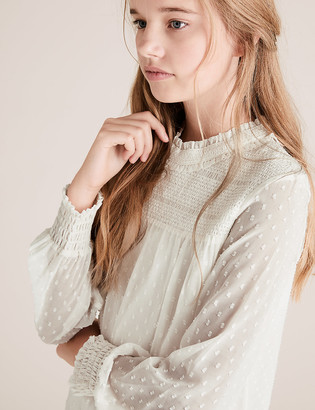 Marks and Spencer Textured Blouse (6-16 Yrs)