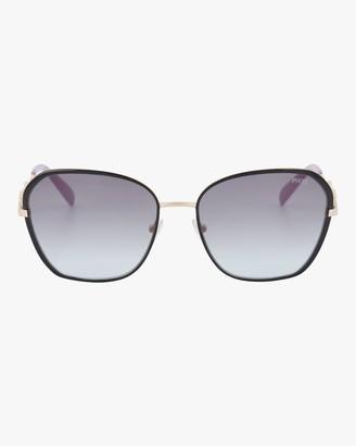 Emilio Pucci Goldtone Smoke Geometric Embellished Sunglasses