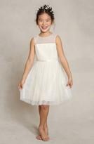 Jenny Yoo Toddler Girl's 'Zoe' Floral Applique Tulle Dress