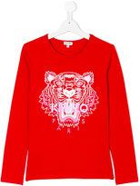 Kenzo Tiger T-shirt - kids - Cotton/Spandex/Elastane - 14 yrs