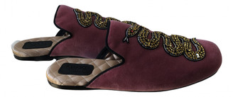 Gucci Pink Velvet Flats