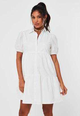 Missguided White Poplin Smock Shirt Maternity Dress