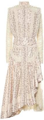 Zimmermann Sabotage asymmetric silk dress