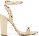 Schutz Embellished perforated leather sandals
