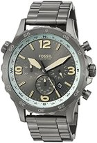 Fossil Men's JR1517 Nate Compass Chronograph Black Stainless Steel Watch