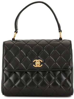 Chanel Pre Owned 1992 diamond quilted CC tote bag