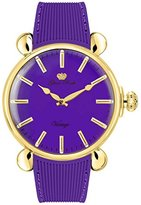 Glam Rock Women's Vintage 45mm Purple Silicone Band Gold Plated Case Quartz Analog Watch GR28021F