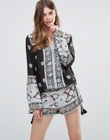 Free People Top And Shorts Set In Bandana Print