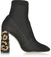 Sophia Webster Black Felicity Leopard Ankle Boots w/Crystals