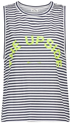 The Upside Sarah striped cotton tank top