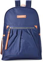 Adrienne Vittadini Navy Pleated Nylon Backpack