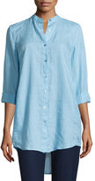 Eileen Fisher Organic Linen Long-Sleeve Tunic