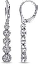 FINE JEWELRY 1/2 CT. T.W. Diamond Sterling Silver Drop Earrings