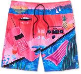 Neff Men's Yoko Graphic-Print Hot Tub Shorts