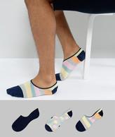 Happy Socks Sneaker Liners In 3 Pack