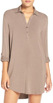 PJ Salvage Jersey Henley Night Shirt