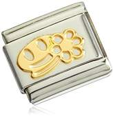Nomination Composable Classic Fun 1 (Smile With Daisy) Partially Gold-Plated Stainless Steel 03016105