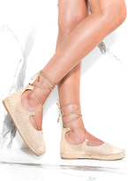 Missy Empire Honor Beige Lace Up Espadrilles Sandals