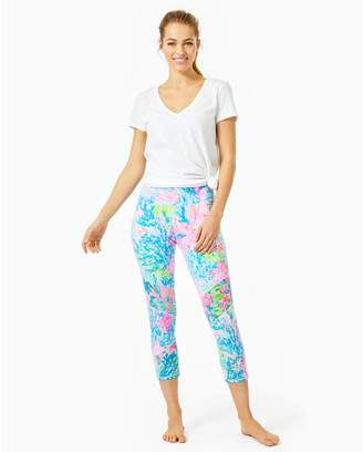 "Lilly Pulitzer UPF 50+ Luxletic 21"" Weekender High Rise Crop Pant"