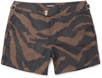 Tom Ford Slim-Fit Short-Length Zebra-Print Swim Shorts