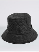 M&S Collection Quilted Popper Strap Winter Hat
