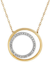 Lord & Taylor Diamonds and 14K Yellow Gold Nested Circle Pendant Necklace