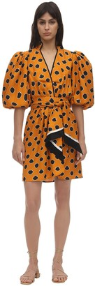 Johanna Ortiz Polka Dot Viscose Twill Mini Dress