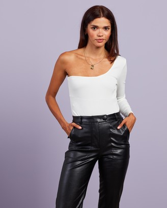 4th & Reckless - Women's White Off The Shoulder Tops - Roxy Bodysuit - Size XXS at The Iconic