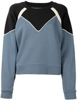 Thumbnail for your product : BA&SH Brick colour-block sweatshirt